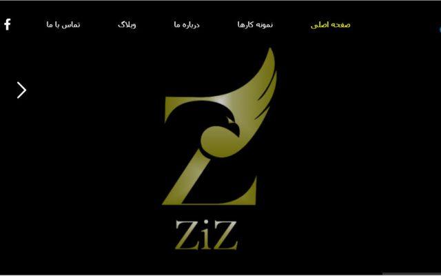طراحی سایت شرکت ZIZ